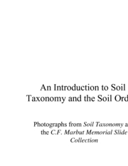 Soil Taxonomy IntroSoils