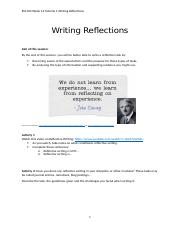 Week 13_ tutorial 1_Writing Reflections