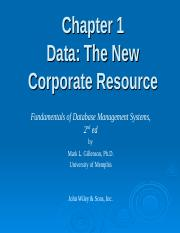 Chapter 1 Data The New Corporate Resource