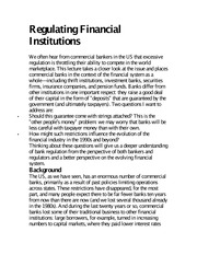 Regulating Financial Institutions notes