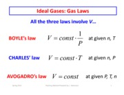 EOS Ideal Gas Law part 2