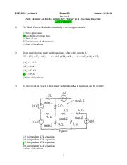 ECE-2020 Exam-III V1 Answers Fall 2014