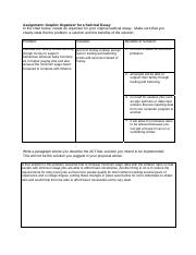 Writing a 5 paragraph essay graphic organizer