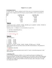 Finance chapter 8