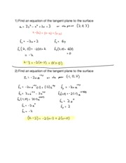 Hw15 14.4 Tangent Planes and Linear Approx