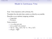 Model in Continuous Time notes