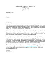 Business letter to Ford Fry