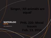 Phil 220 All Animals Are Equal