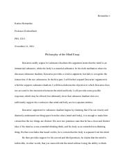 Philosophy of the Mind Essay