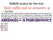 10.07 SWBAT review for the test
