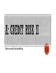 7 CREDIT RISK MODELLING-continued(1)