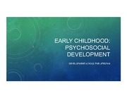 Early Childhood Psychosocial Development