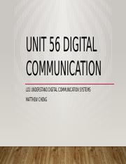Unit 56 Digital Communication