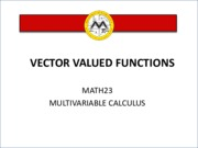 L5 Vector Valued Functions