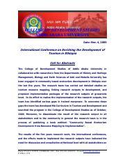 5 - COLLEGE OF DEVELOPMENT STUDIES ADDIS ABABA UNIVERSITY