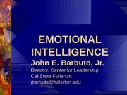 EMOTIONAL INTELLIGENCE for class (1)