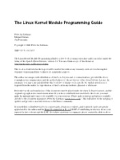 The Linux Kernel Module Programming Guide