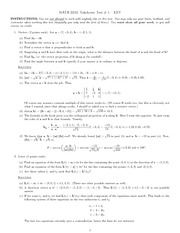 Takehome Test 1 Solution on Vector Calculus