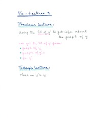 Lecture 9 Notes (Feb 14)