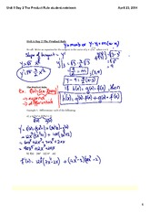 The Product Rule student