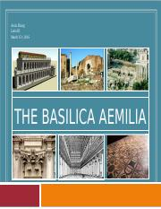 The Basilica Aemilia