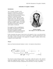 a study of the determination of avogadros number Avogadro's number: avogadro's number, the number of units in one mole of any substance.