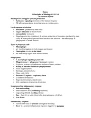 Notes Principles of Biology Immune System 2