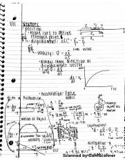 PHYS 2101 Notes: Vectors, Acceleration, Motion, Velocity