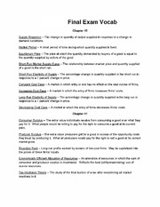Chapter 10 - 13 Vocab Sheet for Final Exam