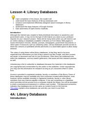 Lesson 4 Libray Databses.docx