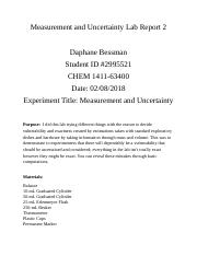 Measurement and Uncertainty Lab Report 2.docx