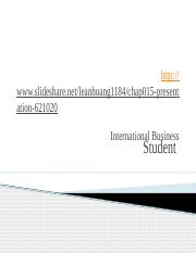 International Business 2