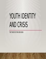Youth Identity and Crisis