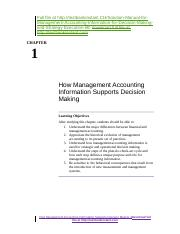 Solution Manual for Management Accounting Information for Decision-Making and Strategy Execution 6E