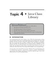 Topic_4_Java_Class_library