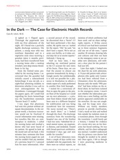 Reading - Litvin - In the dark-the case for EHRs