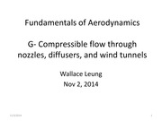 Student notes Chapter G - Compressible Flow through Nozzles, Diffusers, and Wind Tunnels
