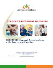 CHCCCS025 Support Relationships with carers and families SAB v3.1 - THEORY.docx