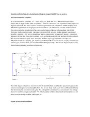 Describe with the help of a clearly labeled diagram how an OPAMP can be used as