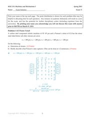 Exam #1 - Spring 2015 - Solutions