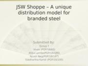 jsw shoppe case study ppt