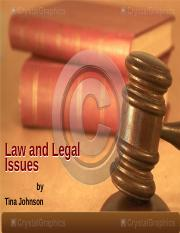 Law and Legal Issues.ppt