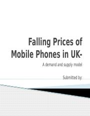 Supply and Demand of Mobile Phones in UK