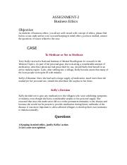 Business Ethics - MGT610 Spring 2007 Assignment 02.doc