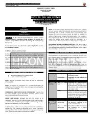 Hizon Notes - Partnership, Lease and Prescription
