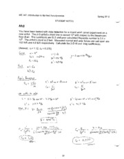 Student Notes Solution - LSN 8 airfoils_1