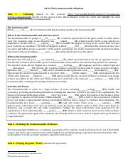 a The Commonwealth of Nations Worksheet.docx