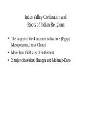 Indus valley civ. Fall 17.ppt