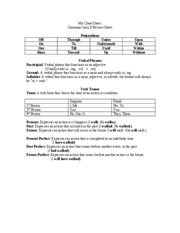 Grammar Quiz 3 Review Sheet