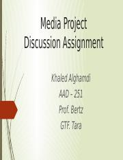 Media Project Discussion Assignment.pptx